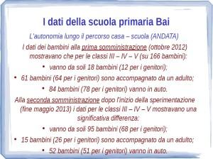Comparazione dati su autonomia Bai (andata) 2013